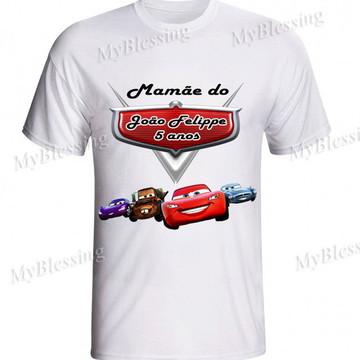 3 Camiseta personalizada carros disney