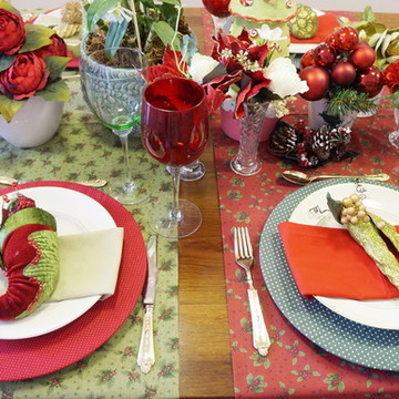 Trilho de mesa natal verde