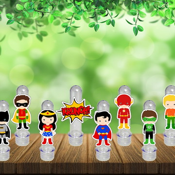 Tubetes Herois Tubo Ensaio Doces Festa