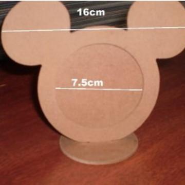 Porta Retrato em MDF Cru Mickey ou Minni