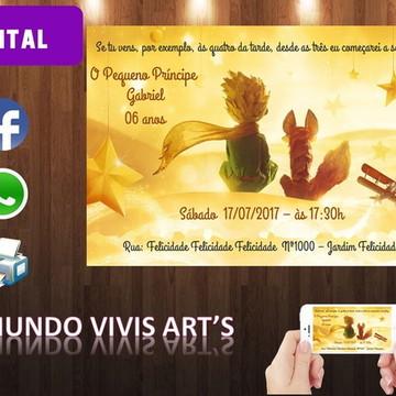 Convite Digital Pequeno Príncipe