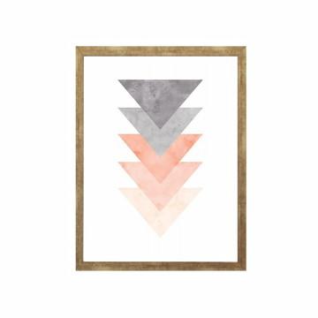 Quadro Abstrato Geométrico com Vidro