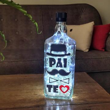 Luminária de garrafa Pai Te Amo