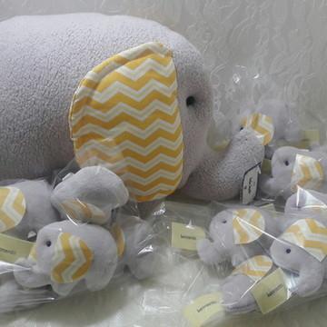 Kit almofada e lembrancinhas elefante