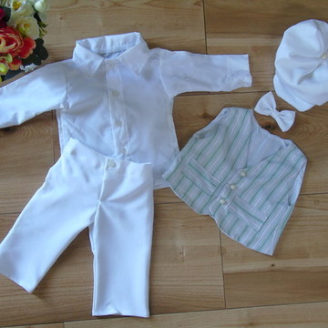 Conjunto Branco Batizado - 5 peças