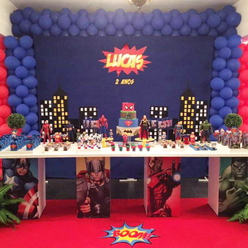 Decoração de Festa Super Herois -Aluguel