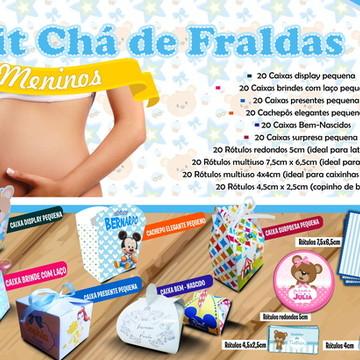 Chá de bebê - Kit Chá de Fraldas