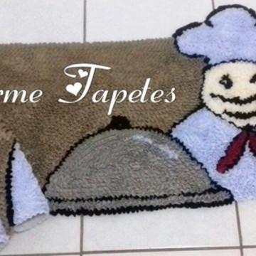 Chef de cozinha tapetes frufru decoração