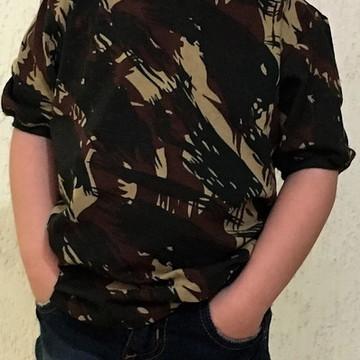 Camiseta Infantil Camuflada
