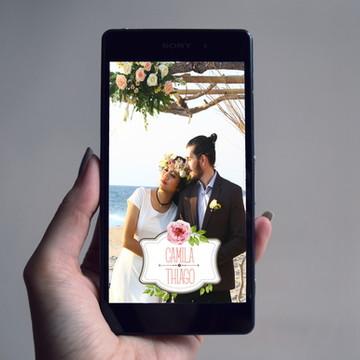 Filtro Snapchat Casamento Boho