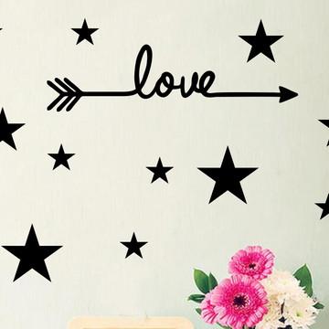 Adesivo Love Estrelas
