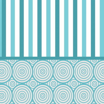 Papel de Parede Listrado Detalhes Azul