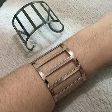 Bracelete Feminino Folheado em Ouro