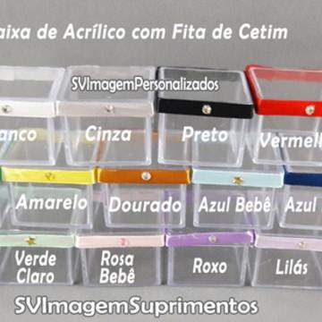 Caixia 4 cm de Acrílico com fita de cetim para personalizar
