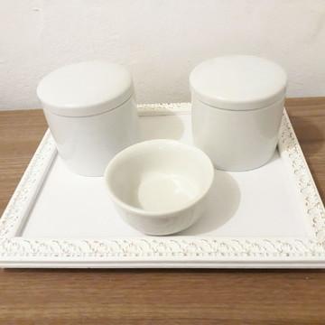 Kit higiene em porcelana clean