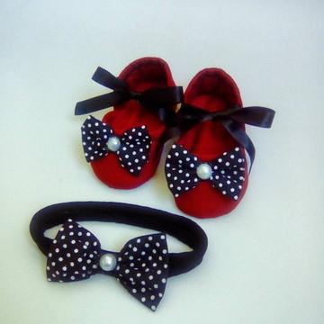 kit Sapatinho de bebê menina