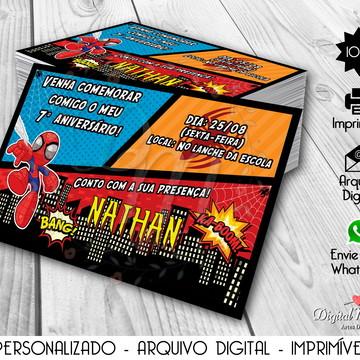 Convite Digital Homem-Aranha