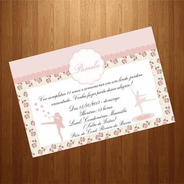 Convite - Tema Bailarina