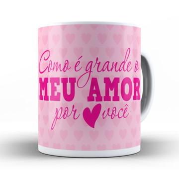 Caneca Meu Amor (azul ou rosa)