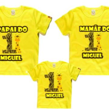 Camisetas personalizadas para Aniversario Safari 3Unid - NG