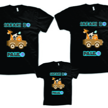 Camisetas personalizadas para Aniversario Safari - NG