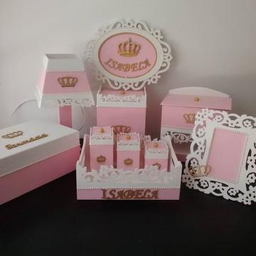 Kit Higiene Bebe Personalizado Coroa
