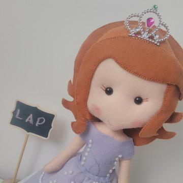 Sofia Sophia Princesa Disney em feltro
