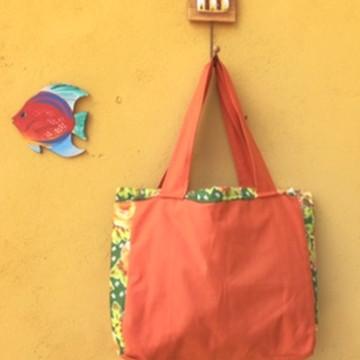 Bolsa M Caramelo de Flores