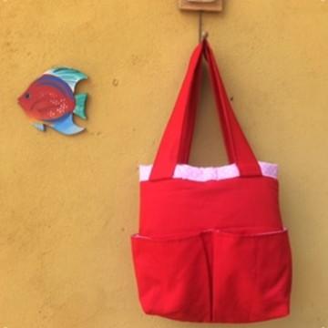 Bolsa M Vermelho Coração