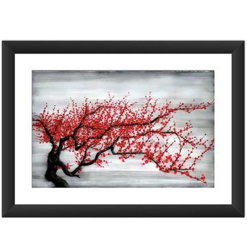 Quadro Arte Japonesa Cerejeira 45x60 cm