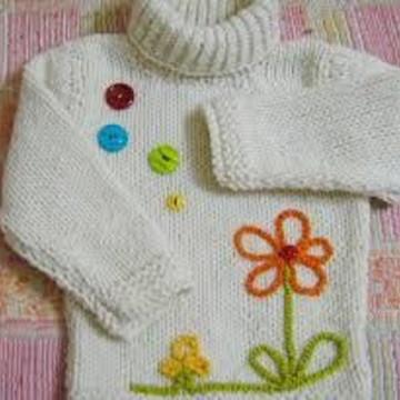 Blusa de tricô infantil