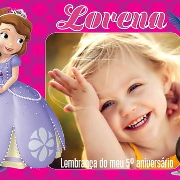 FOTO LEMBRANÇA COM IMÃ PRINCESA SOFIA