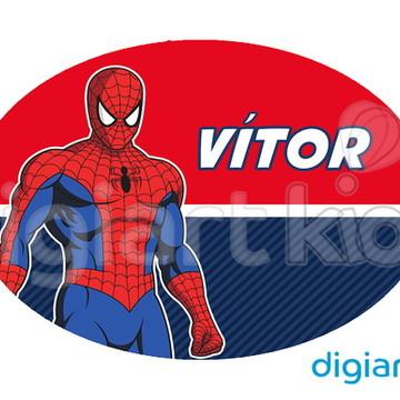 Placa para Decoração - Homem Aranha