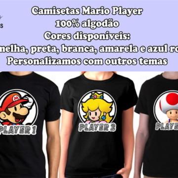 07512c6377e3d Camisetas Personalizadas Mario Player