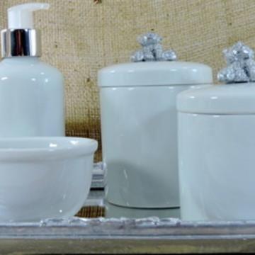 Kit Higiene Bebê Ursinho Prata