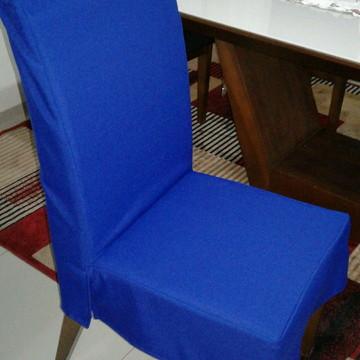 Capa para cadeira de jogo de jantar em sarja leve