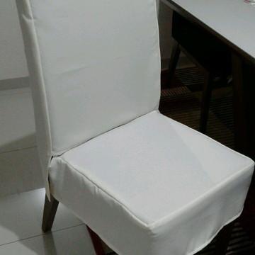 Capa para cadeira de jogo de jantar sem babadinho