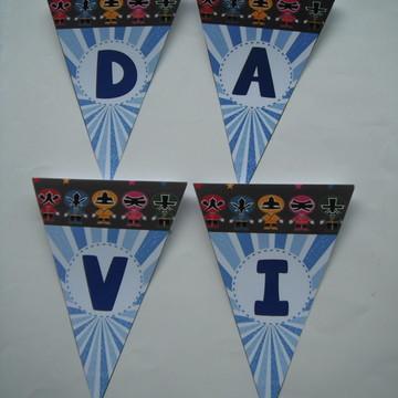 Bandeirolas Decoração Power Ranger
