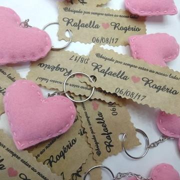Lembrancinha Chaveiro Coração Feltro