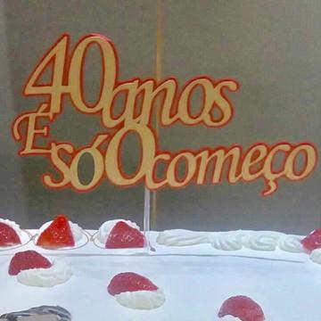 Topper para bolo 40 anos