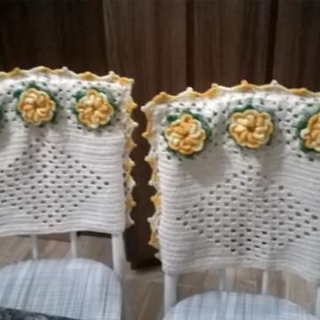 Capa para cadeira em crochê