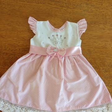 Vestido rosa Poá