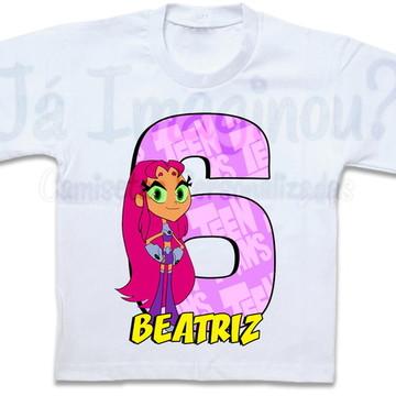 Camiseta Estelar Jovens Titãs em ação