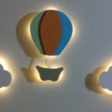 Nuvem com led luminaria bebe 30cm-OFERTA