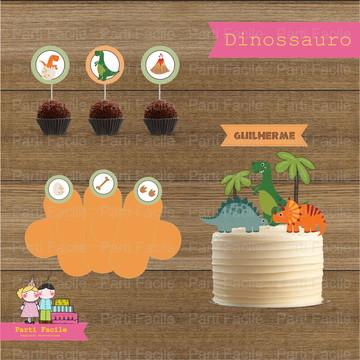 Kit festa impresso - Dinossauros