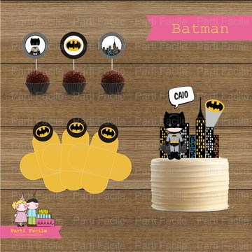 Kit festa impresso - Batman