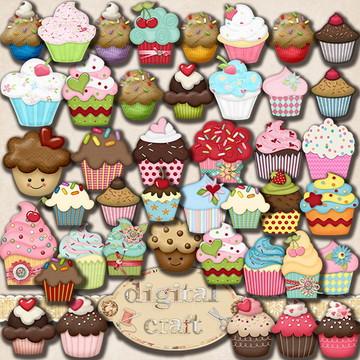 Scrapbook Digital - Cupcake cliparts