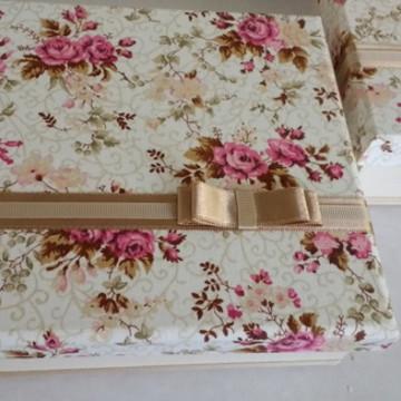 Caixa forrada de tecido