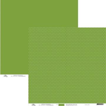 Papel Para Scrap - Poá Verde Claro