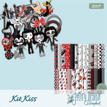 Kit Scrapbook Digital Banda Kiss